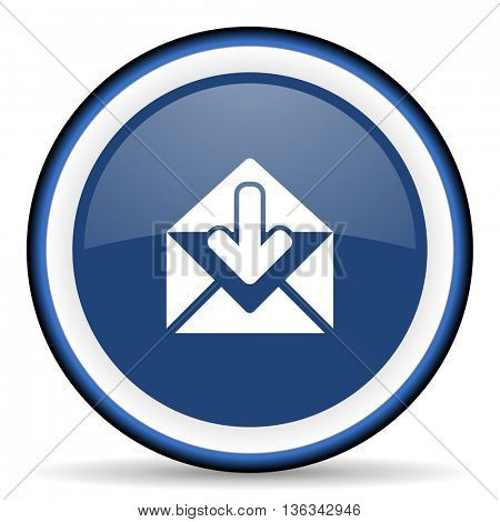 email round glossy icon, modern design web element