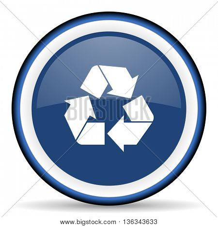 recycle round glossy icon, modern design web element