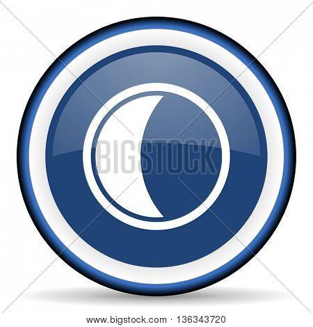 moon round glossy icon, modern design web element