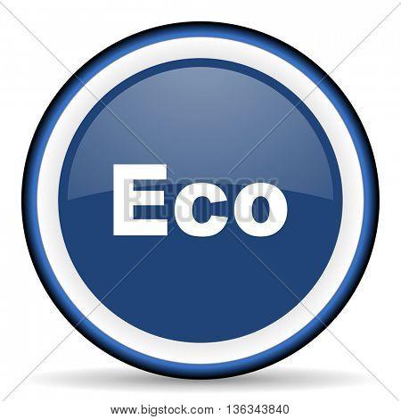 eco round glossy icon, modern design web element