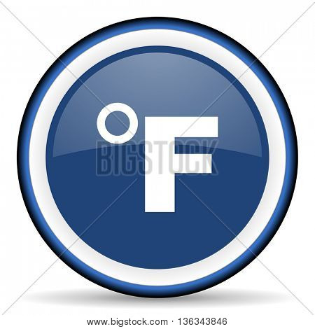 fahrenheit round glossy icon, modern design web element