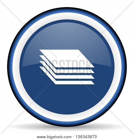 layers round glossy icon, modern design web element