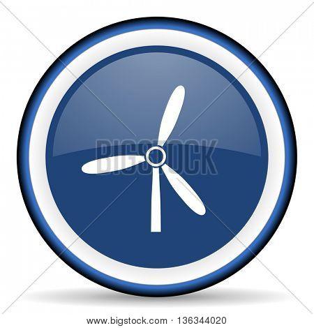 windmill round glossy icon, modern design web element
