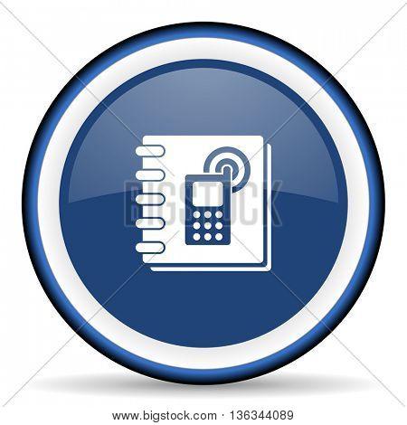 phonebook round glossy icon, modern design web element