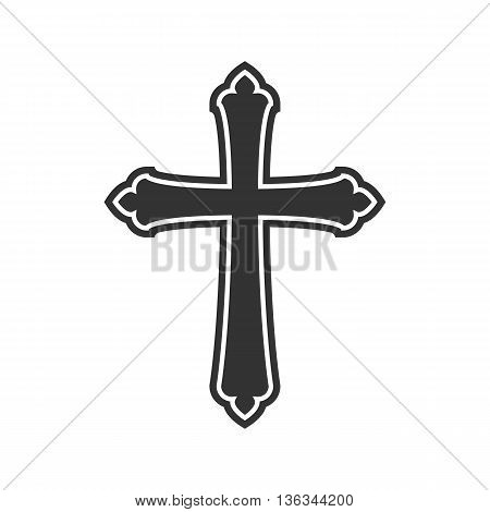 Symbol of a church cross. Christianity religion symbol