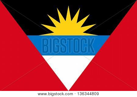 Flag of Antigua and Barbuda National symbol. Vector illustration