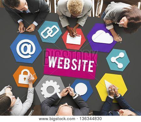 Web Page Design Development Graphic Concept