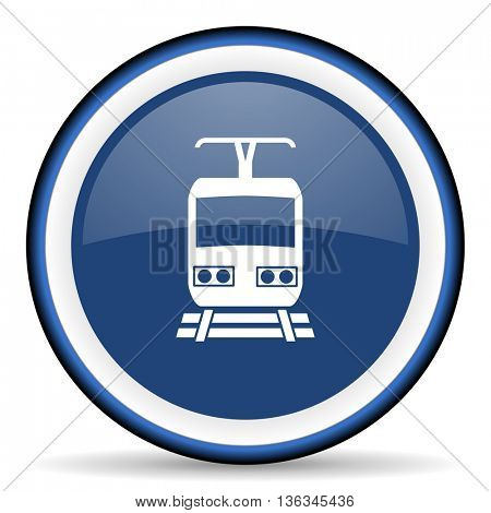 train round glossy icon, modern design web element