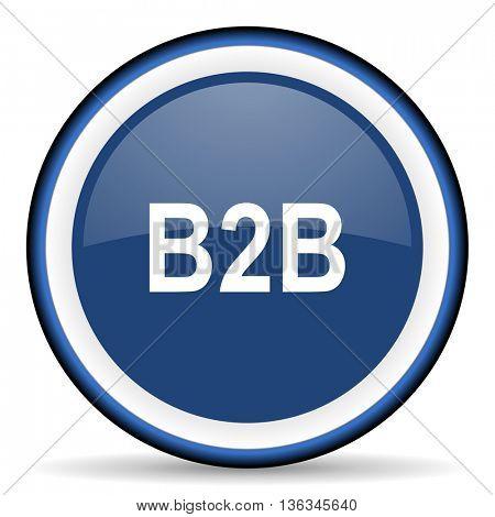 b2b round glossy icon, modern design web element