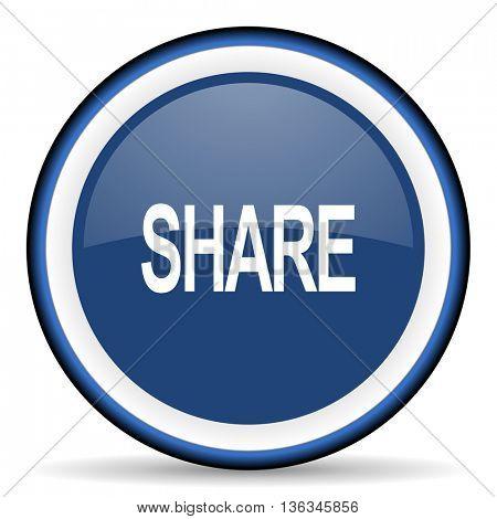 share round glossy icon, modern design web element