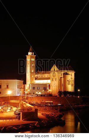 A panoramic view of the Church of Trani in Apulia - Italy