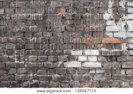 the brick textured background or wallpaper of abstract of speckled color
