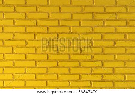 Yellow brick wall texture background, Yellow wall