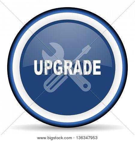 upgrade round glossy icon, modern design web element