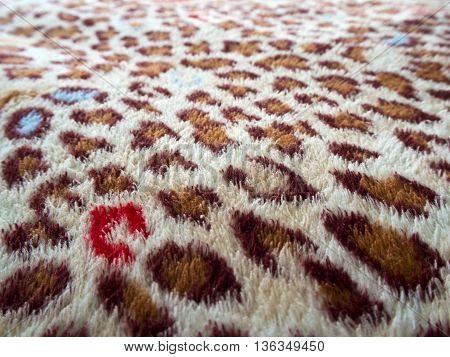 Spot of Artificial Leopard Skin pattern on fabric