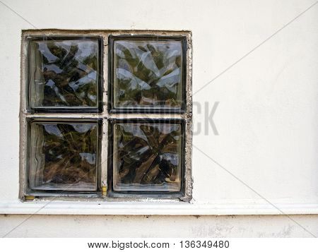 Glass blocks used for light into the building