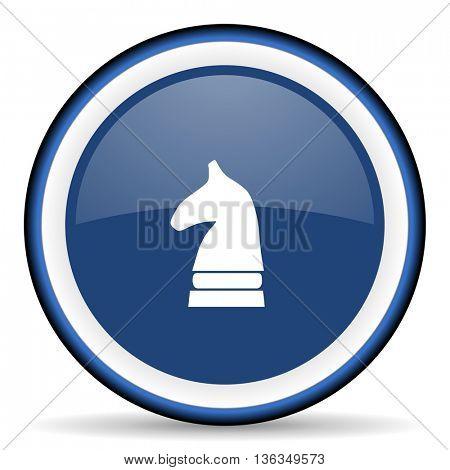chess horse round glossy icon, modern design web element