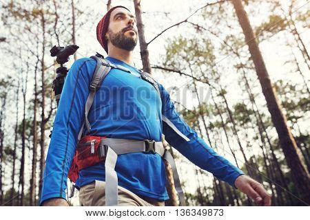 Hiking Trekking Walking Travel Destination Concept