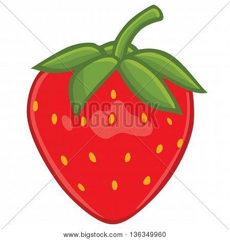 Fresh Healthy Strawberry Clipart Vector Art Illustration