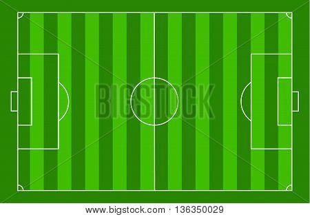 top view soccer court football field sport illustration vector