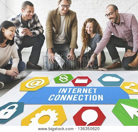 Internet Connection Technology Information Concept