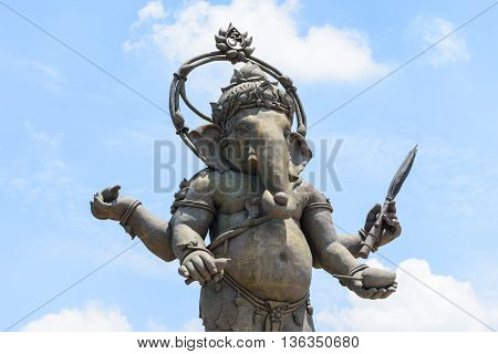 black Ganesha in the Asian park Thailan