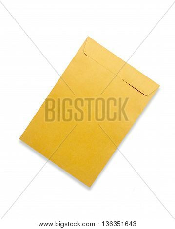 Brown envelope isolated on white background texture