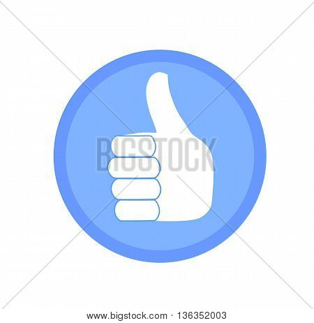 Blue like icon - modern vector illustration.