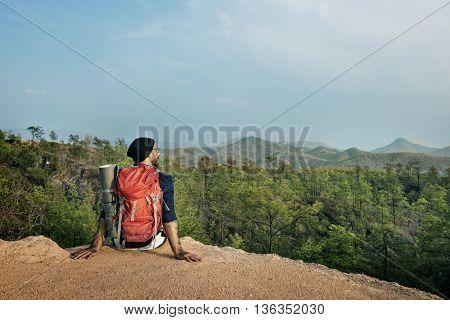 Hiking Trekking Adventure Journey Travel Destination Concept