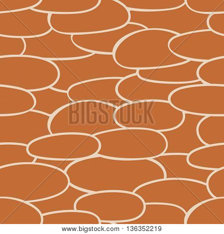 Seamless pattern from ovals ellipses. Vector illustration background