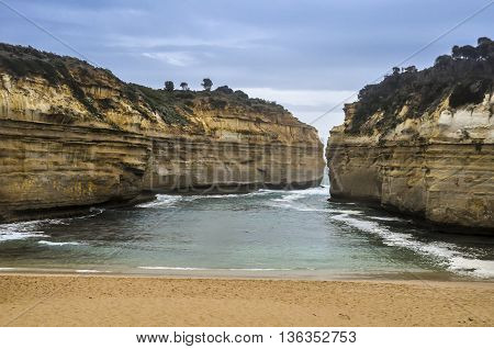 daylight view at coast of Twelve Apostles Australia