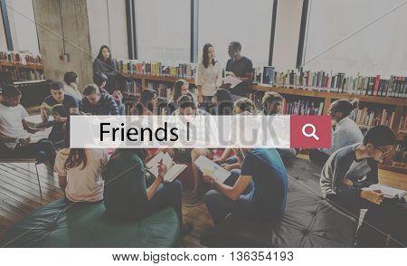 Friends Togetherness Friendship Relationship Team Community Concept