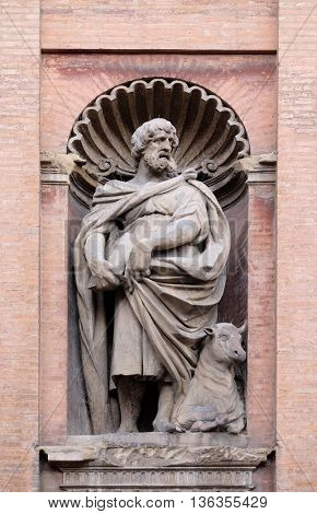 BOLOGNA, ITALY - JUNE 04: Saint Luke the Evangelist, Church of SS. Salvatore. Bologna. Emilia-Romagna. Italy, on June 04, 2015.