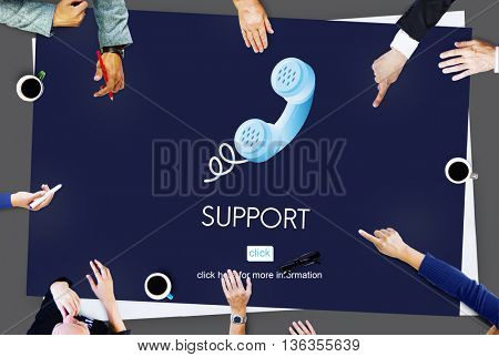 Support Service Information Help Desk Concept