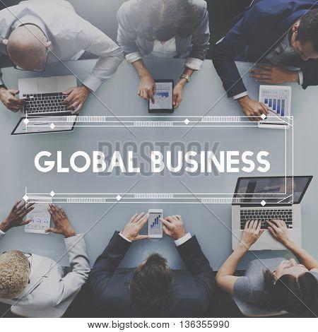 Global Business Organization Market Profit Concept