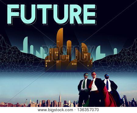 Future Imagine Innovation Plan Progress Vision Concept