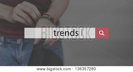 Trends Style Fashionable Chic Trending Modern Concept