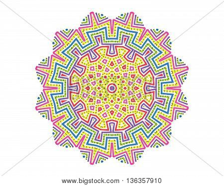Vector color abstract concentric pattern for design