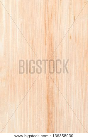 New clear natural planed wooden board surface for texture or background