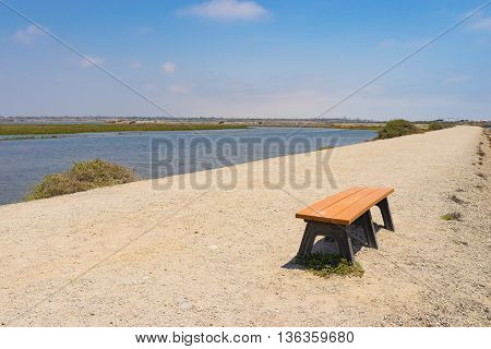 Bench On Park Trail