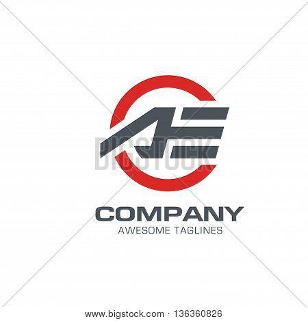 letter AE modern sport logo vector. letter AE logo vector