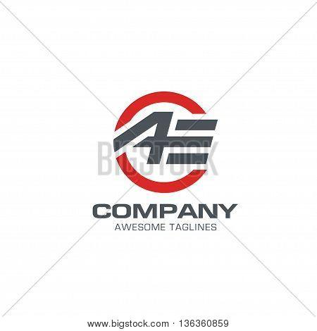 letter ae modern sport logo vector, letter AE symbol