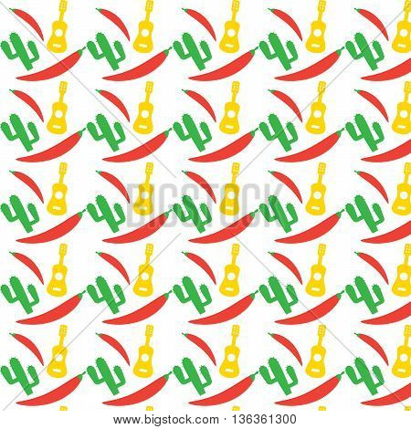 Mexican pattern. Fiesta seamless background mexico native eps10