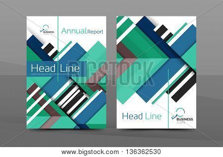 Design of annual report cover brochure, flyer template layout, leaflet abstract background, A4 size page