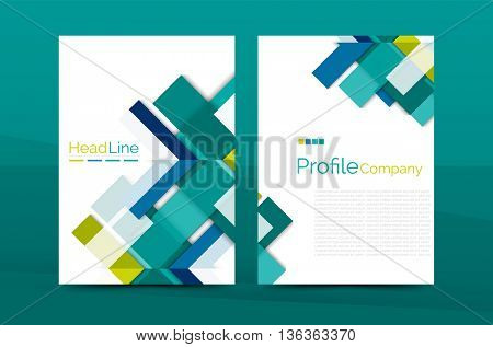 Color business brochure cover template, annual report front page, A4 size, leaflet abstract background, magazine design, flyer layout