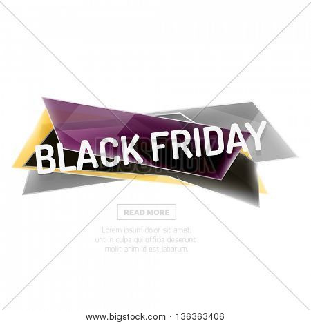 geometric shape ad promo banner. Abstract universal layout