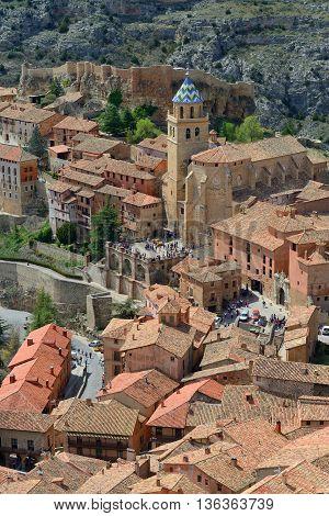 Albarracin historic town province of Teruel Spain