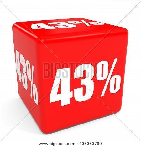 3D Red Sale Cube. 43 Percent Discount.