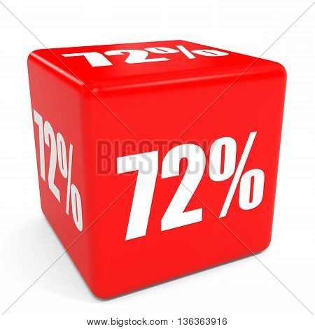 3D Red Sale Cube. 72 Percent Discount.
