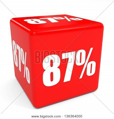3D Red Sale Cube. 87 Percent Discount.